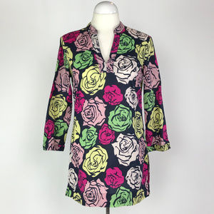 Brooks Brothers Floral Cotton Tunic Size Small